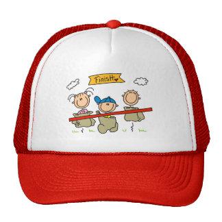 Stick Figure Sack Race Trucker Hat