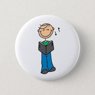 Stick Figure Singer Button