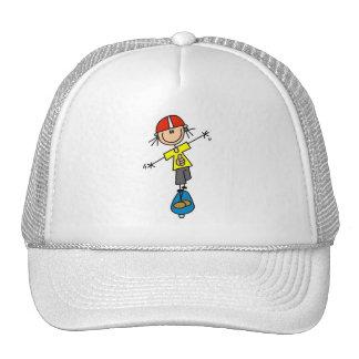 Stick Figure Skateboarder Trucker Hat