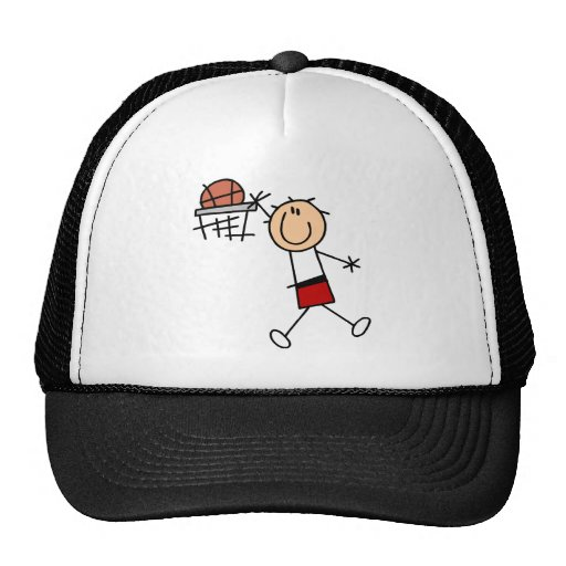 Stick Figure Slam Dunk T-shirts and Gifts Trucker Hats