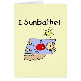 Stick Figure Sunbather Tshirts and Gifts Card