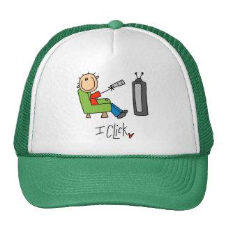 Stick Figure TV Clicker Trucker Hat