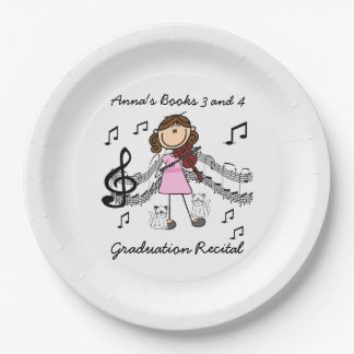 Stick Figure Violin Player Paper Plates 9 Inch Paper Plate