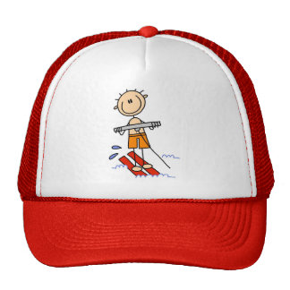 Stick Figure Water Skiing Hats