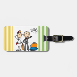 Stick Figure Wedding Honeymoon T-shirts and Gifts Luggage Tag