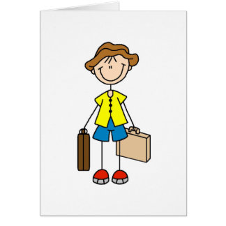 Stick Figure With Luggage Card