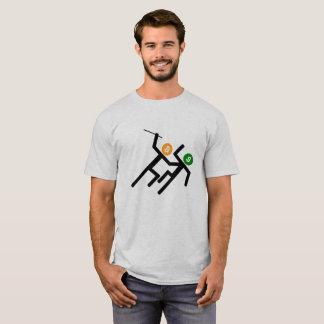 Stick Figures Bitcoin Crypto vs US Dollar T-Shirt