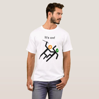 Stick Figures Bitcoin  vs US Dollar-Its On! T-Shirt