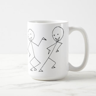 Stick Figures Dancing Coffee Mug