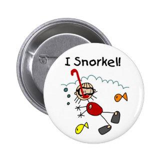 Stick Girl I Snorkel 2 Inch Round Button