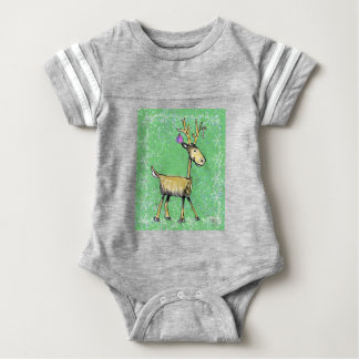 Stick Holiday Deer Baby Bodysuit