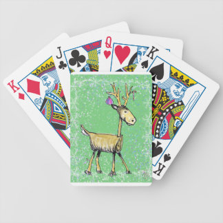 Stick Holiday Deer Bicycle Playing Cards