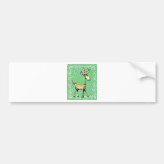 Stick Holiday Deer Bumper Sticker