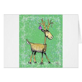 Stick Holiday Deer Card