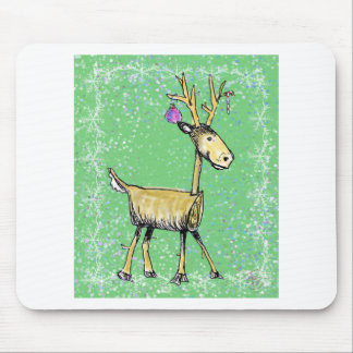 Stick Holiday Deer Mouse Pad