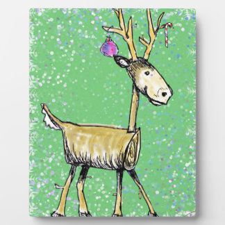 Stick Holiday Deer Plaque