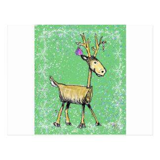 Stick Holiday Deer Postcard
