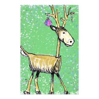 Stick Holiday Deer Stationery