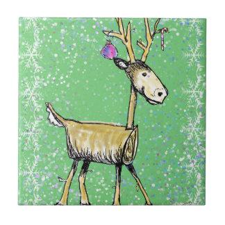 Stick Holiday Deer Tile