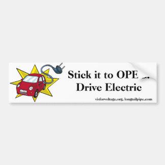 Stick it to OPEC! Drive Electric - bumper sticker