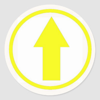 Stick it to the influence - Yellow Round Sticker