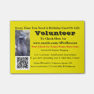 Stick It Volunteers Wanted #4PetRescue Post-it® Notes
