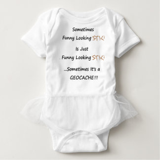 Stick or Geocache Baby Bodysuit