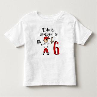Stick Pirate 6th Birthday Toddler T-shirt
