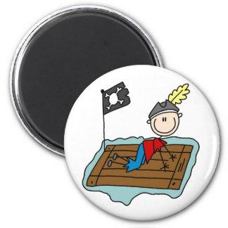 Stick Pirate On Raft Magnet