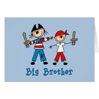 Stick Pirates Big Brother Stationery Note Card
