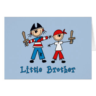 Stick Pirates Little Brother Greeting Cards
