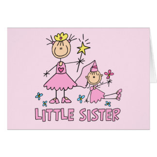 Stick Princess Duo Little Sister Note Card