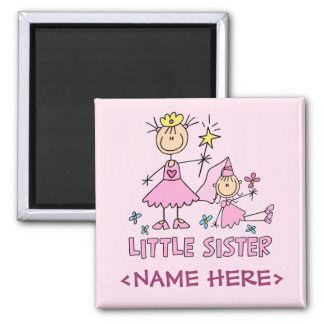 Stick Princess Duo Little Sister Square Magnet