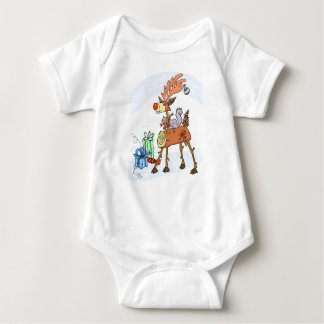 Stick reindeer baby bodysuit