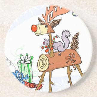 Stick reindeer coaster