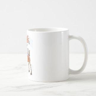 Stick reindeer coffee mug