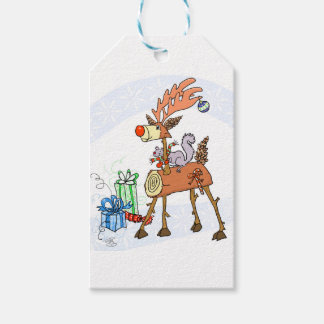 Stick reindeer gift tags