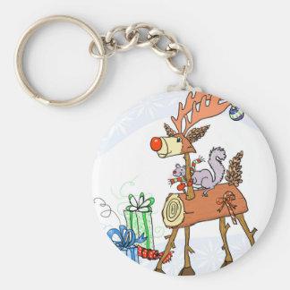 Stick reindeer keychain