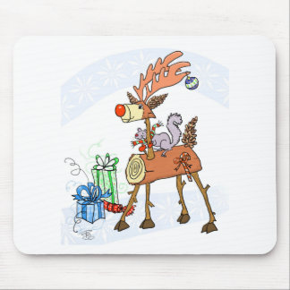 Stick reindeer mouse pad