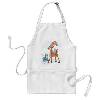 Stick reindeer standard apron