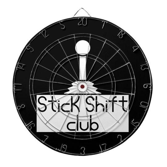 Stick shift dartboard