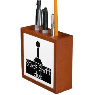 Stick shift desk organizer