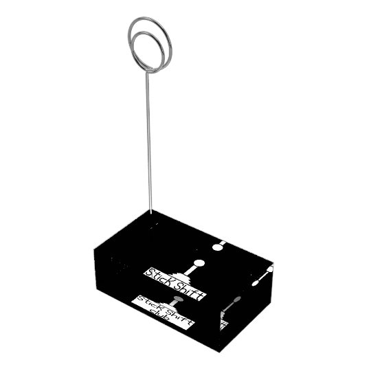 Stick shift place card holder