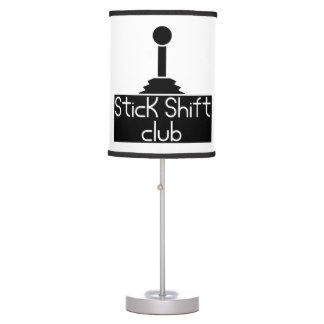 Stick shift table lamp