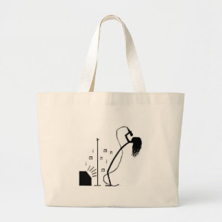 Stick Singer Large Tote Bag