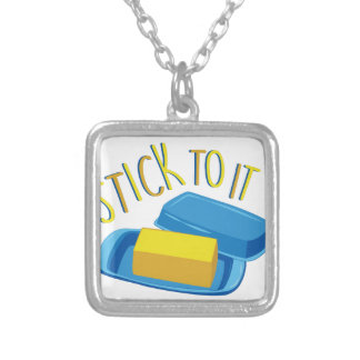 Stick To It Silver Plated Necklace