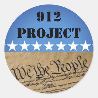 Sticker-912 Project Beck Classic Round Sticker