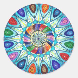 Sticker abstract mandala drawing