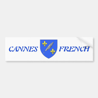 sticker announcing the town of canes in France