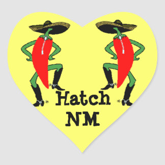 Sticker Anthropomorphic Chili Pepper Men Hatch NM
